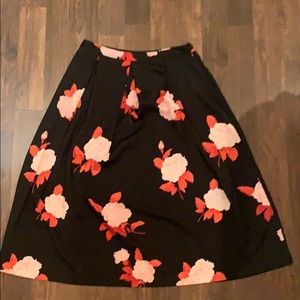 Who What Wear Floral Skirt